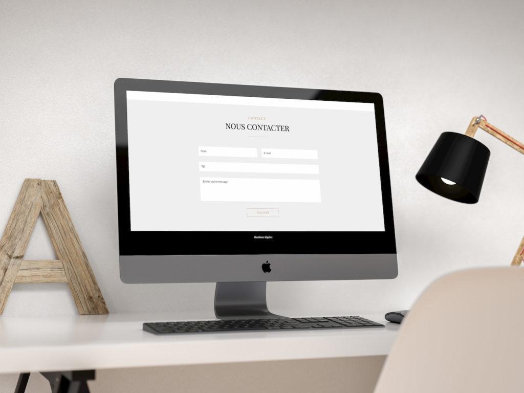 Mockup Homepage site web