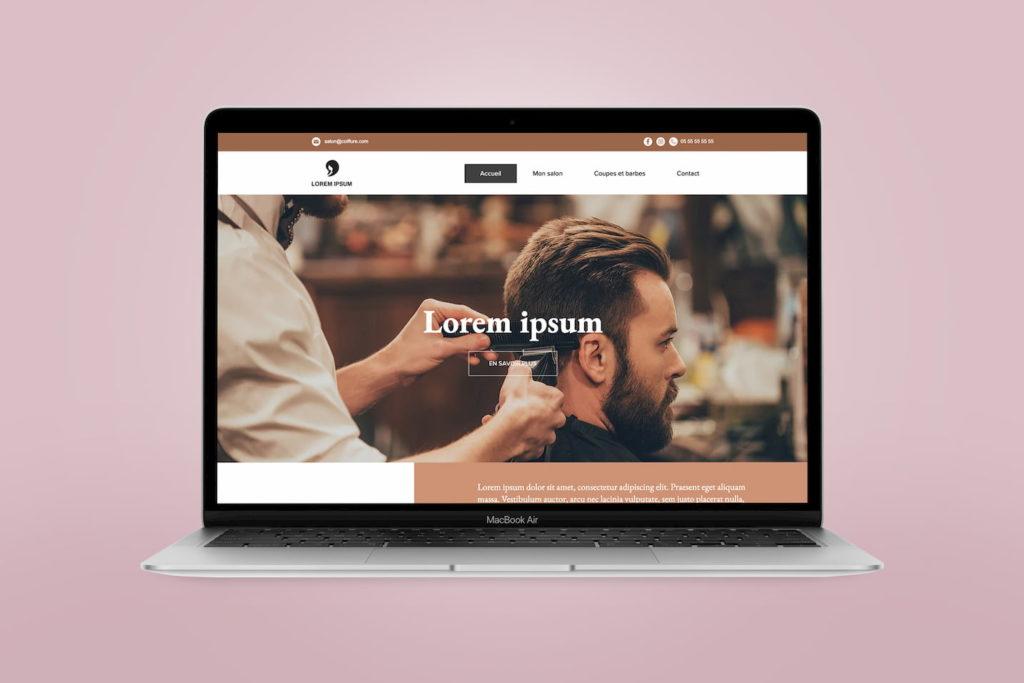 Site internet pour un salon de coiffure