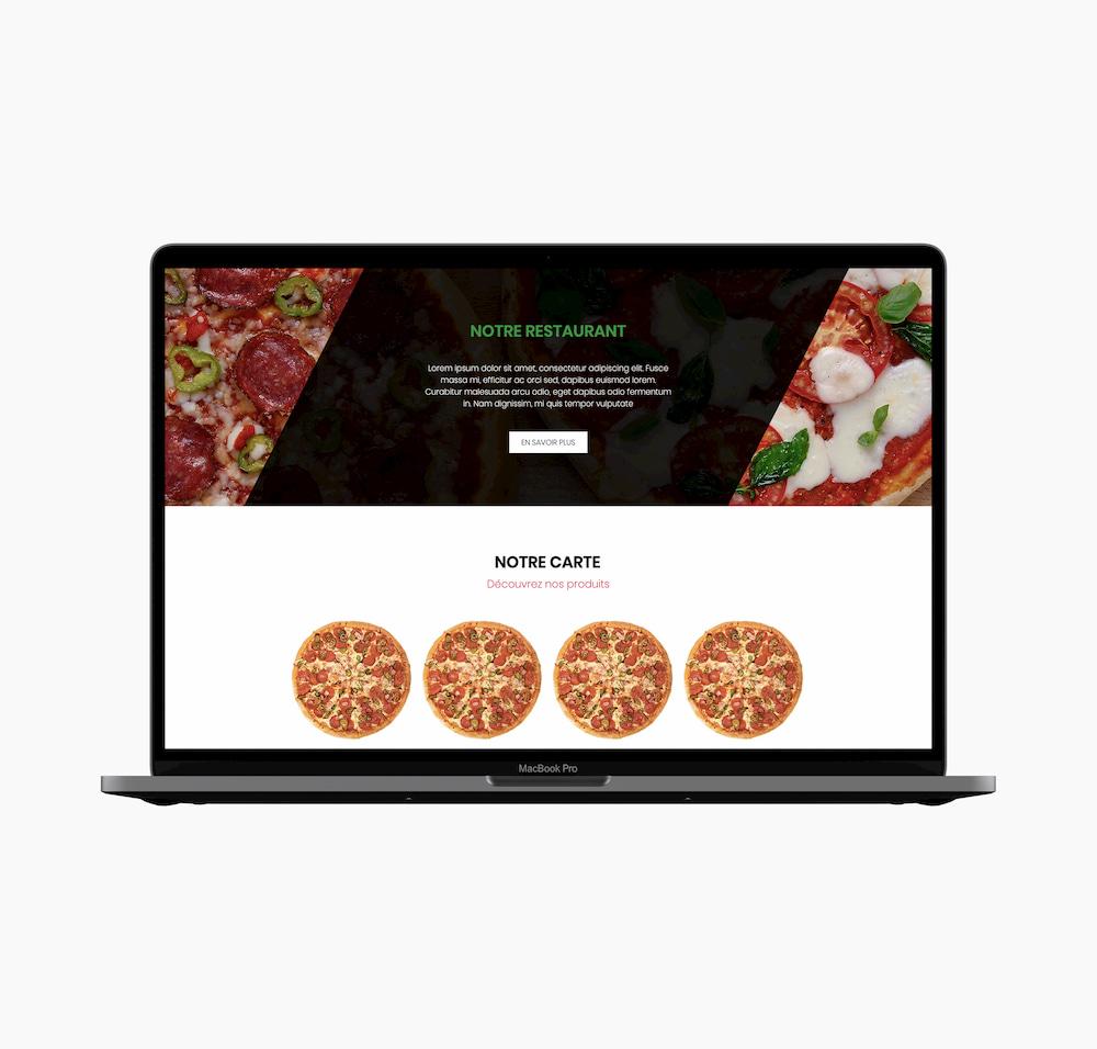 Webdesign partie Présentation site web d'un restaurant
